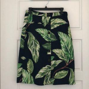 NWT Ann Taylor Palm Print A-Line Skirt